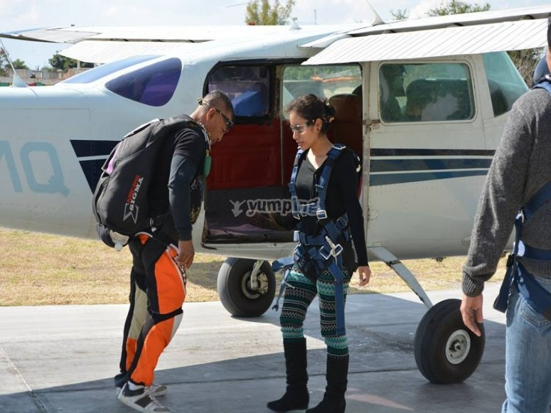 Ready for skydiving