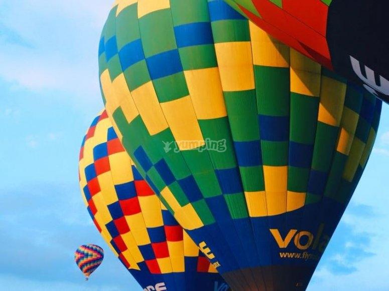 vuelo en globo en Tlaxcala