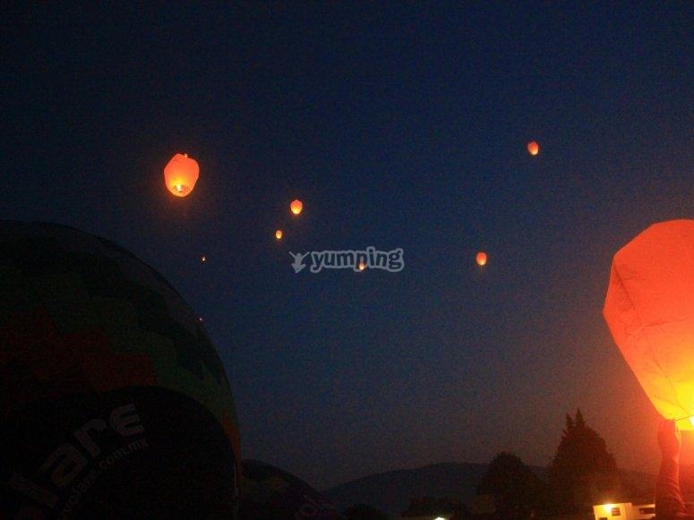 Launch a sky lantern