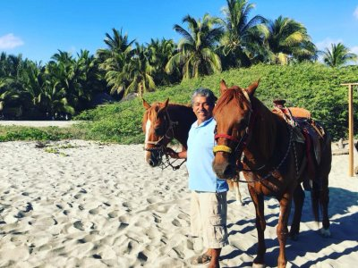 Horse riding on the beach, Puerto Escondido