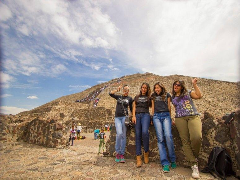 Climb the pyramids