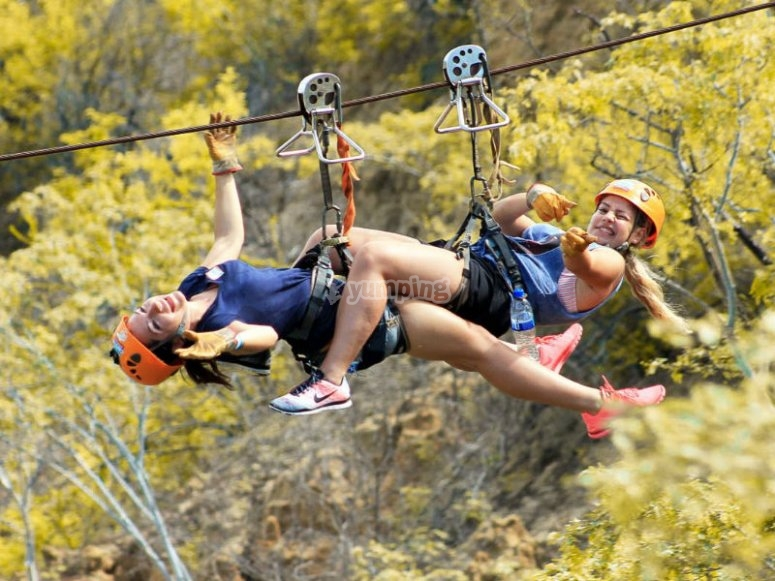 Guaranteed fun with our canopy lines