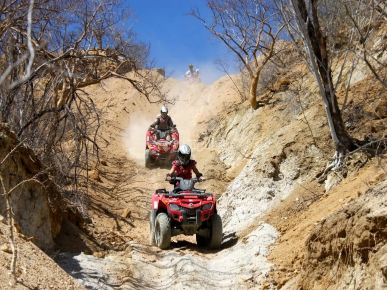 Adrenaline when driving your ATV