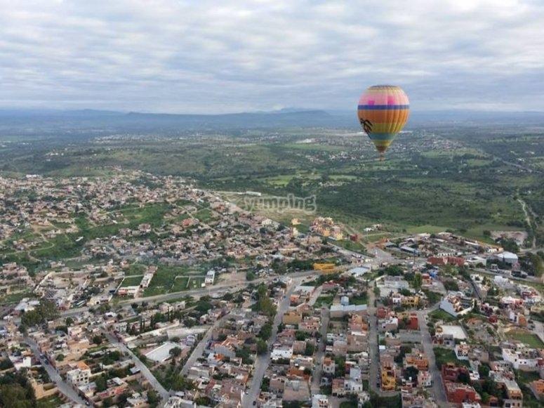 Come and fly in a balloon to Guanajuato