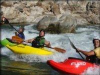 Kayaks among friends