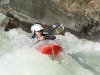 Rowing in Kayak