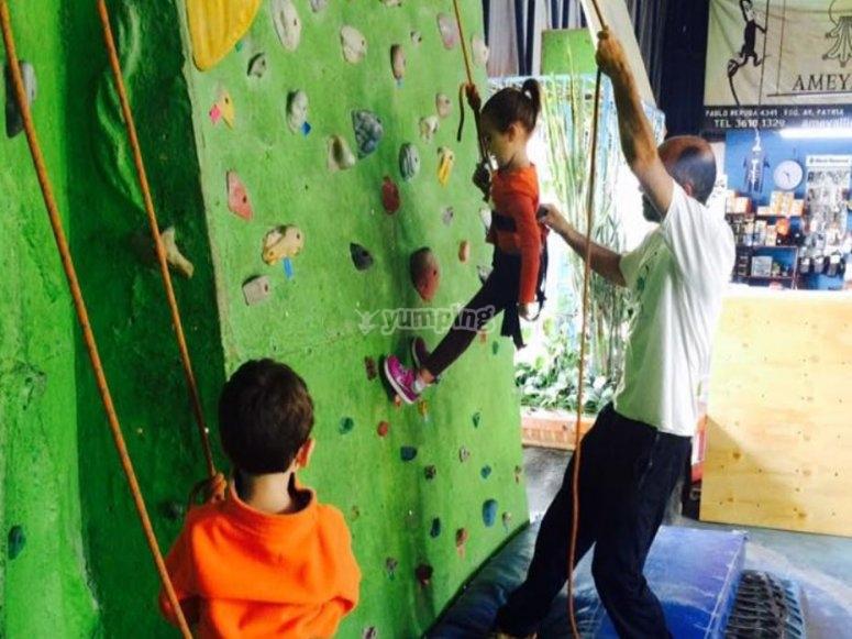 Nace el amor al deporte de escalada