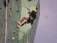 Escalando con cuerda