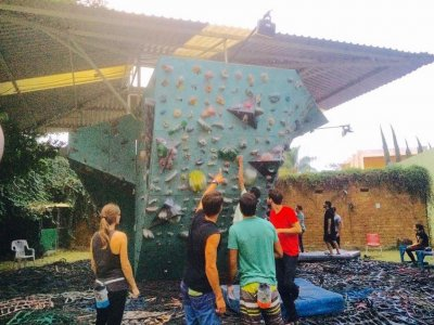 Climbing wall personal training