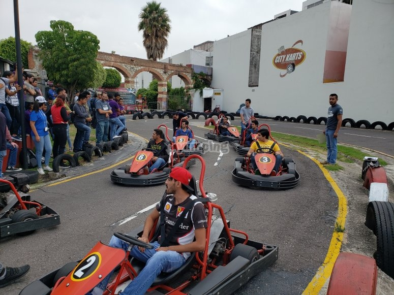 Go-kart competition in Puebla