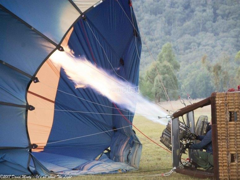 Balloon ride in Huasca