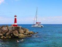 Luxury catamaran ride