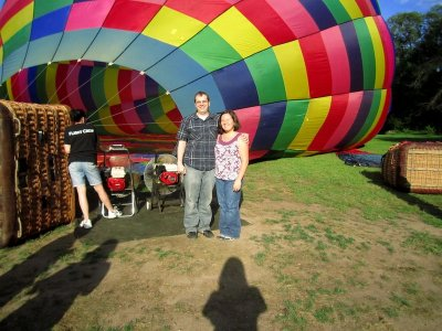 Balloon flight and route around Huasca de Ocampo