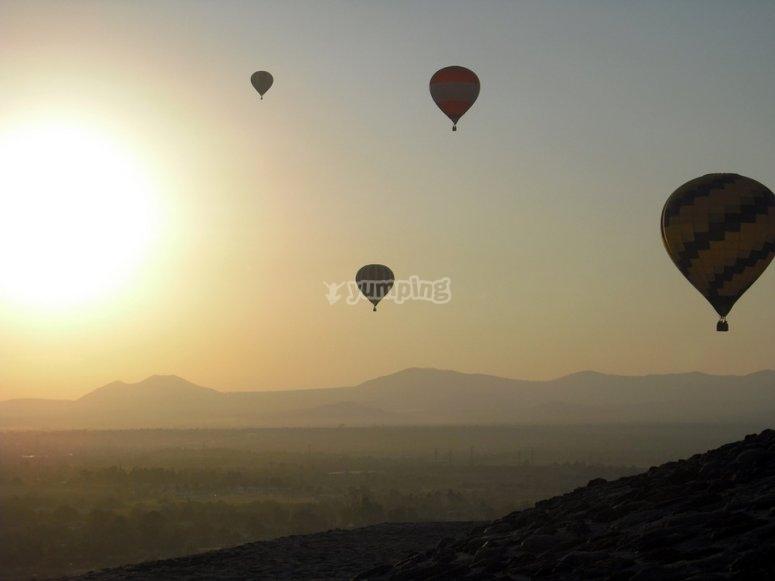 Balloon flight in huasca