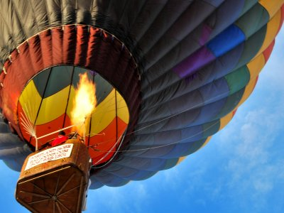 Balloon flight with romantic dinner in Huasca
