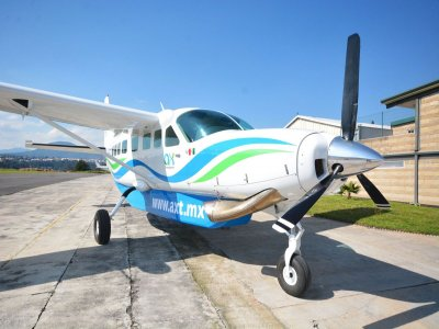 Light aircraft flight to Holbox Island