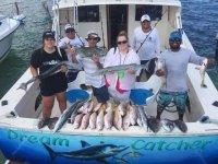 Pescando con familia