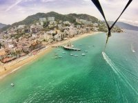 View from parasailing