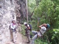 End of rappelling