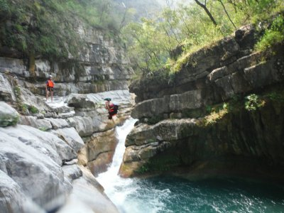 Canyoning in Chipilin, Nuevo León
