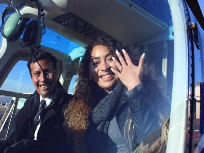 Vuelo en helicóptero para pedir matrimonio en CDMX