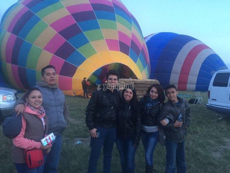 familia volando