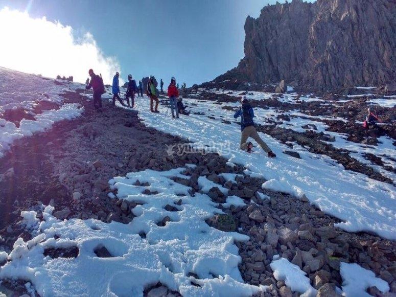 Getting to the Orizaba top