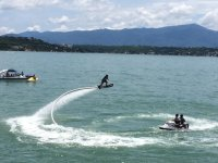 Flyboard on the lake of tequesquitengo