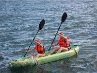 Kayaking paddling in San Blas