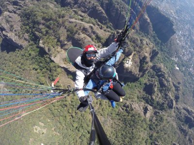 Paragliding Flight in Tenacingo + Rappelling