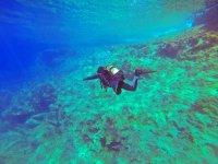 Snorkeling in the deep waters