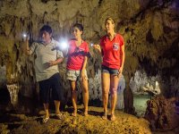 Caving in the cenotes