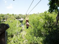 Have fun on the zip line