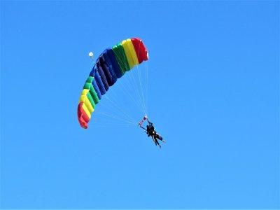 Skydiving jump in San Diego, California