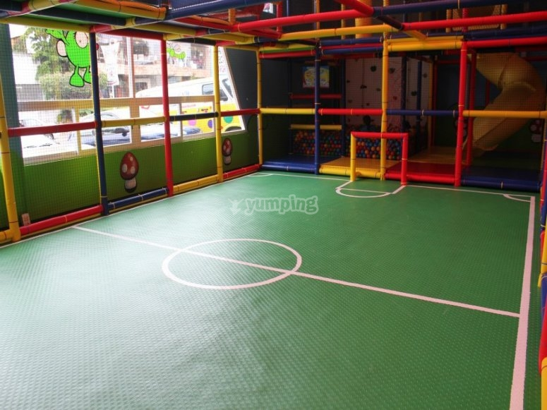 Football court for the kids