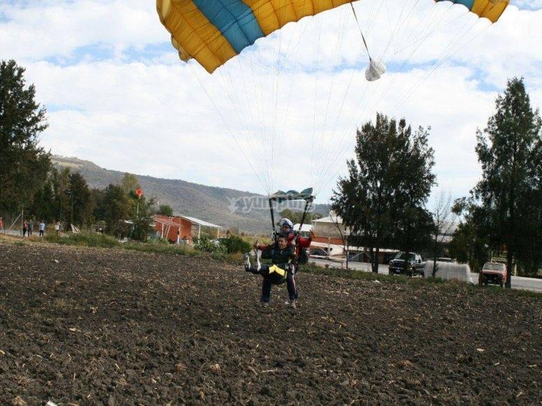 Preparing the landing