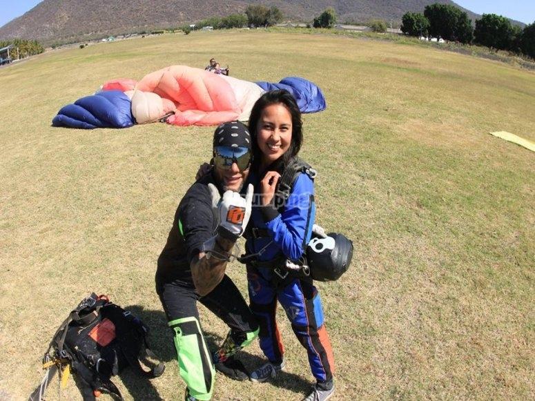 Parachute jump in Guadalajara