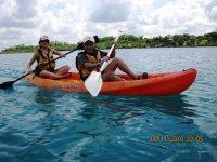 Kayaking guests