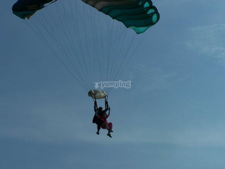 Parachuting jump