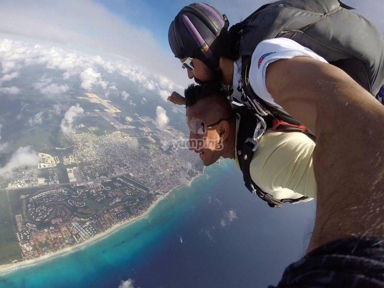 Aprecia cancun desde el aire