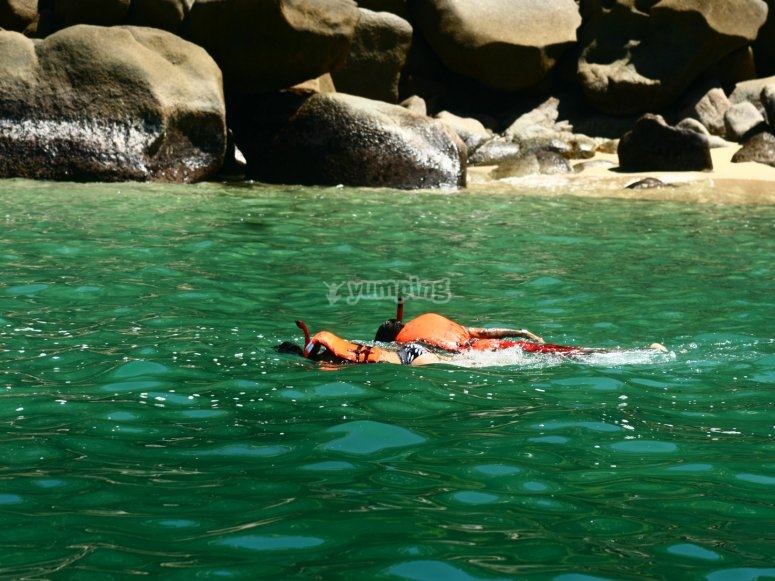 Recorrido con snorkel