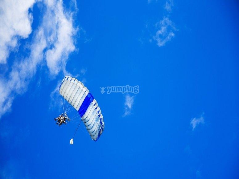 A parachute jump