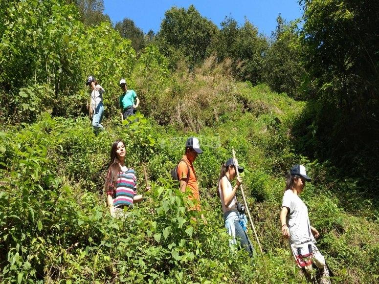 Hiking tour across the mountain range