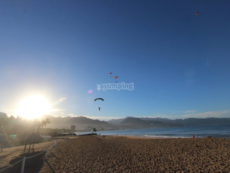 Aterrizando en la playa de vallarta