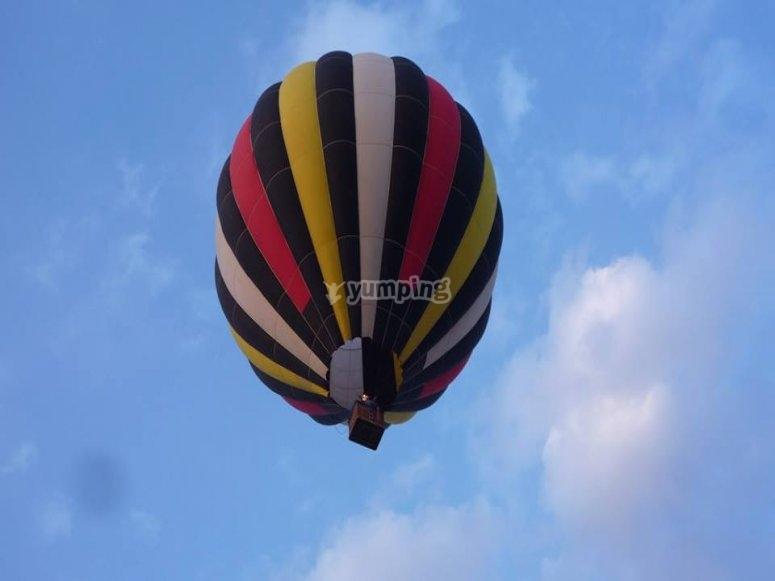 Flying over Huamantla