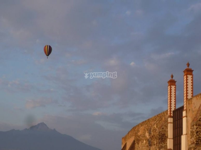 in the distance of the sky of Huamantla