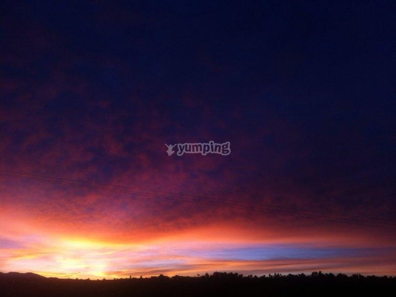 Sunrise in huamantla