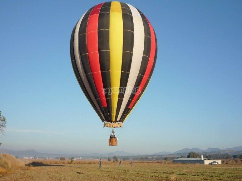 Balloon flight in Huamantla