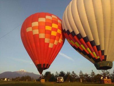 Viaje en globo en Huamantla hospedaje en cabaña