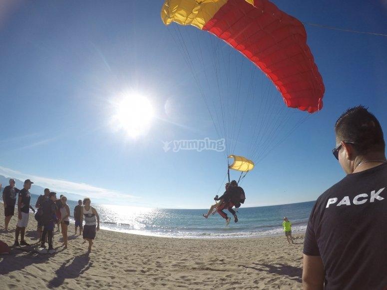 Aterrizando en la playa